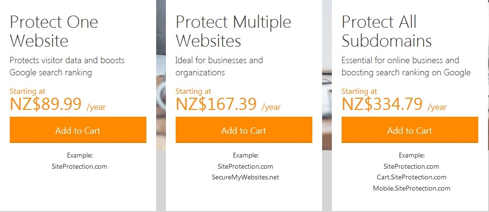 godaddy ssl certificate options and pricing