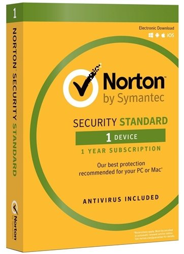 Norton Security Standard For 1 Device With Virus Protection