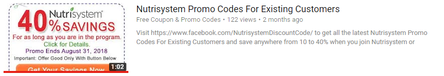 Nutrisystem promo codes for existing customers