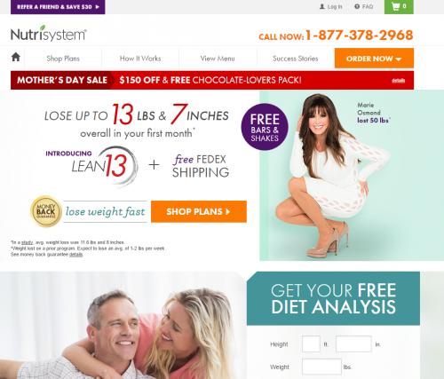 nutrisystem discounts