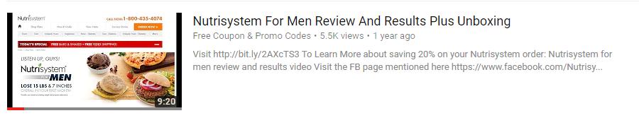 nutrisystem for men review