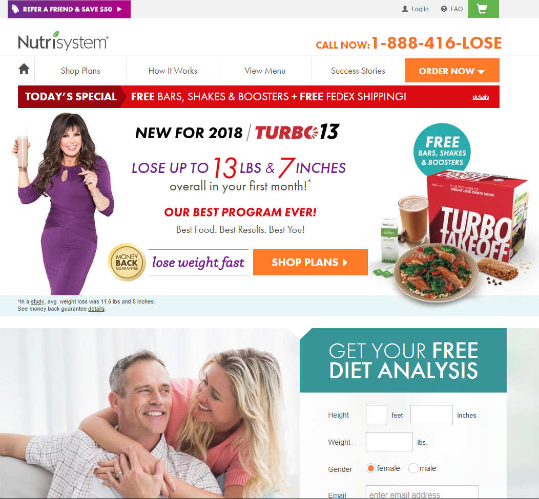 nutrisystem meals and coupons deals for new customers