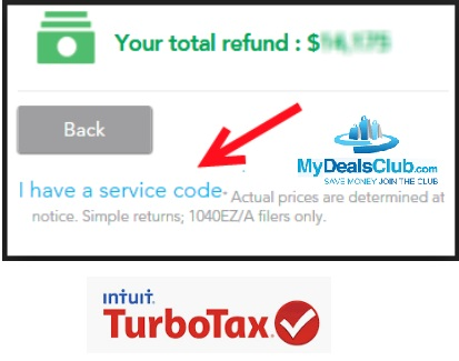 turbotax service codes for 2019