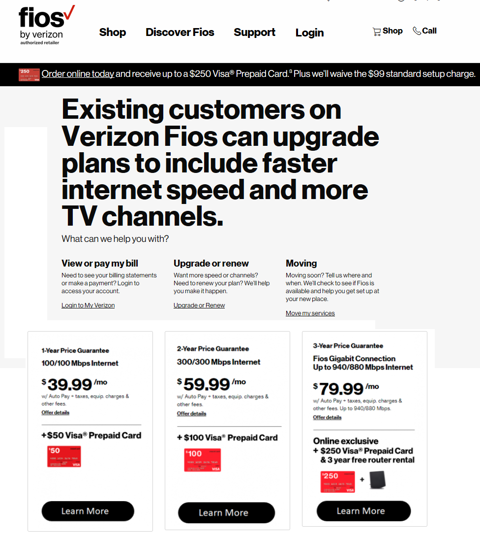 Verizon Fios Deals Internet Only Promotions Triple Play Bundle Prices 2020 Mydealsclub Com