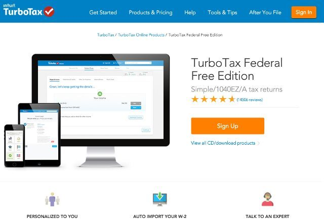 Full Online Free Edition Feature List of TurboTax Federal