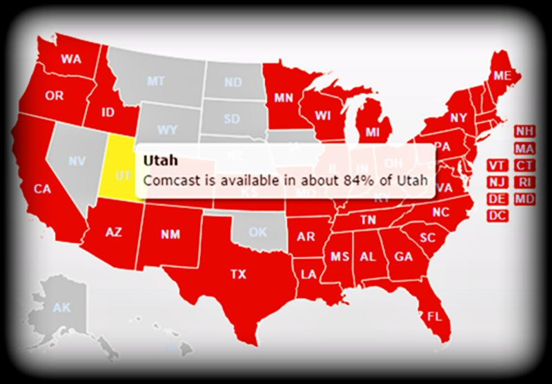 XFINITY from Comcast Coverage map