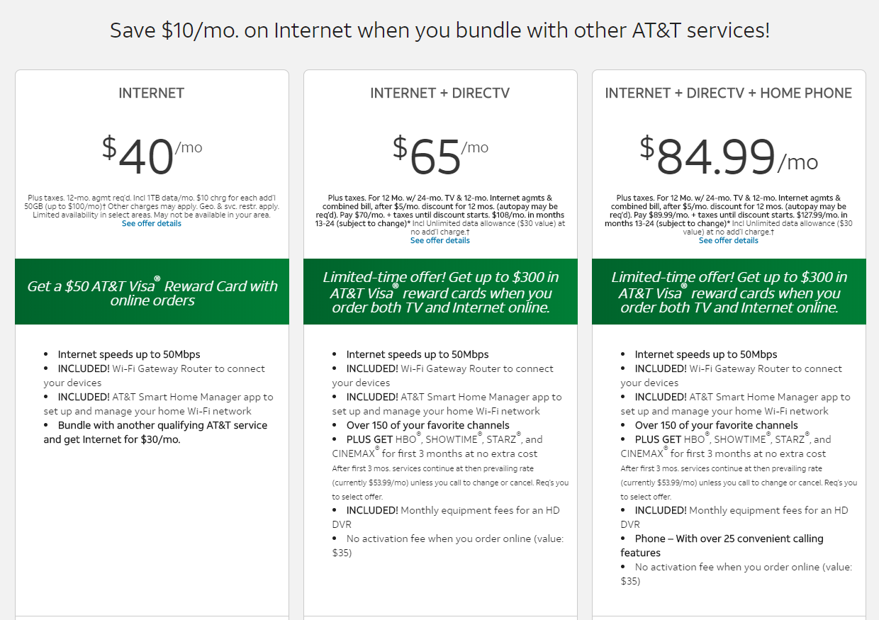 AT&T deals for the month