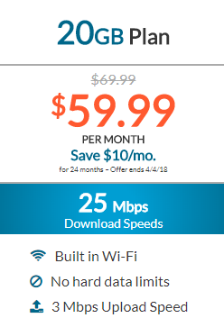 Dish Internet 20GB Plan
