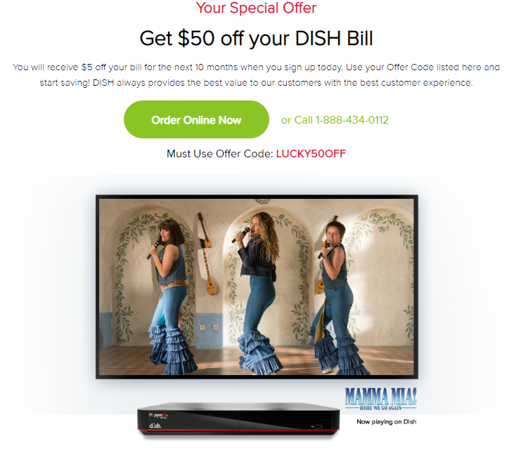 Get $50 off your DISH Bill with our Dish Internet Deals