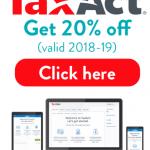 taxact coupon 2018 save 20% top offer