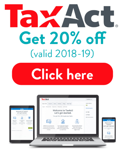 taxact coupon 2018 save 20% top offer