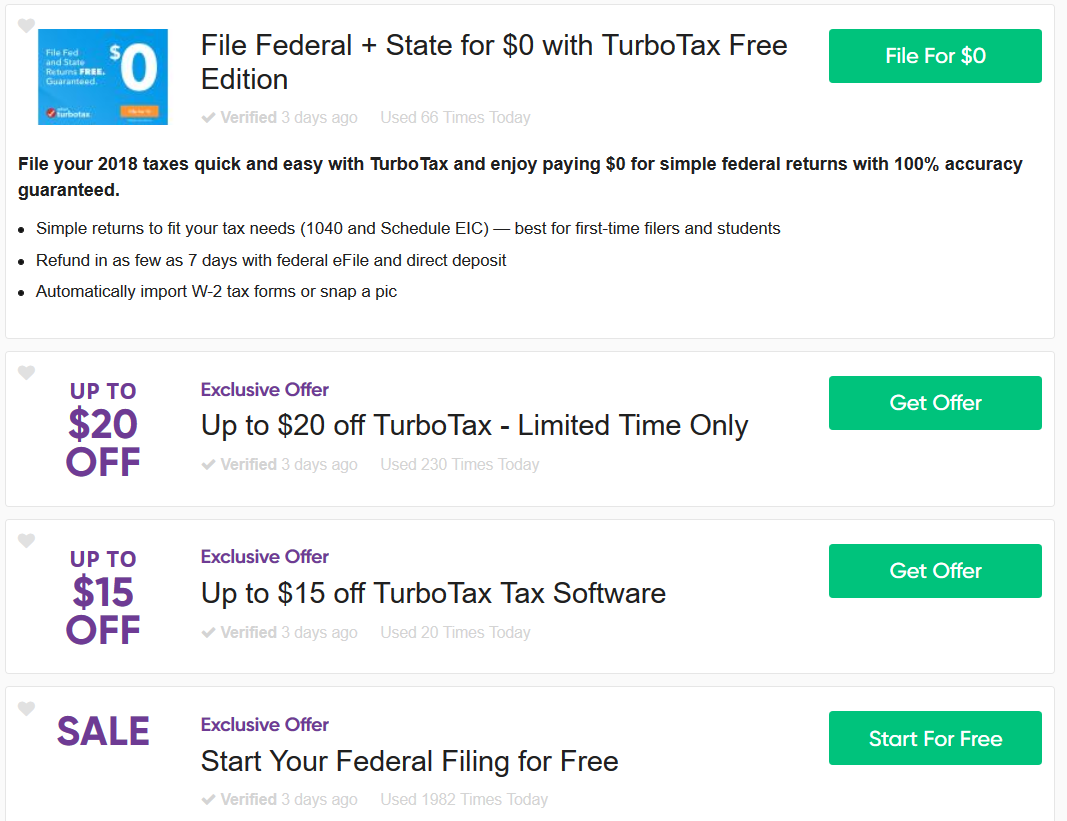 TurboTax Service Code USAA And Military Discounts Voucher