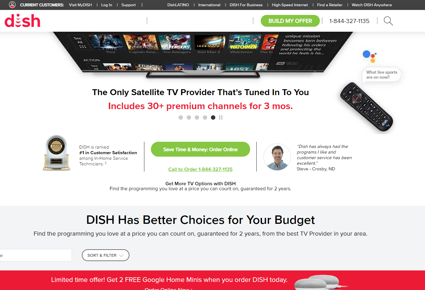 dish network deals and promotions for all customers