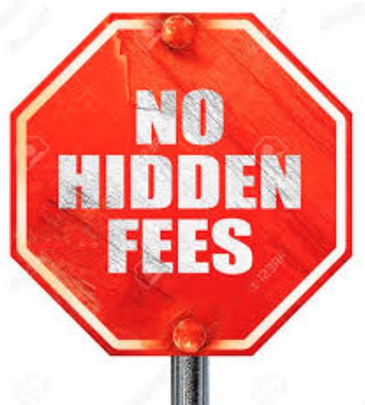 ho hidden fees