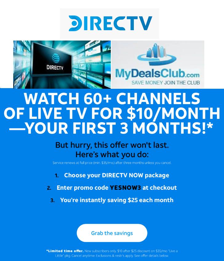 directv promo code MydealsClub
