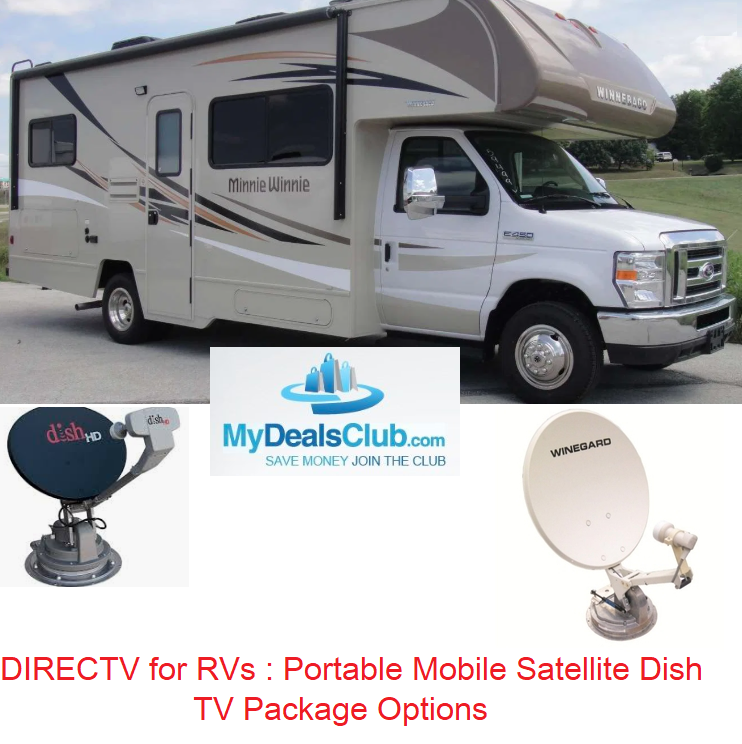 DIRECTV for RVs : Portable Mobile Satellite Dish TV Package Options