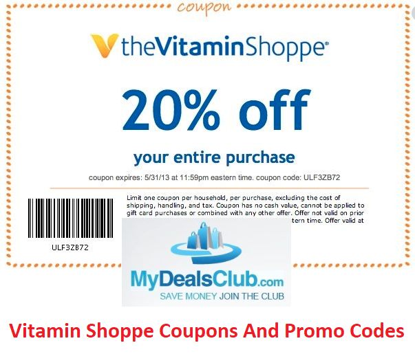 Vitamin Shoppe Coupons And Promo Codes