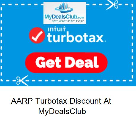 AARP Turbotax Discount at MyDealsClub