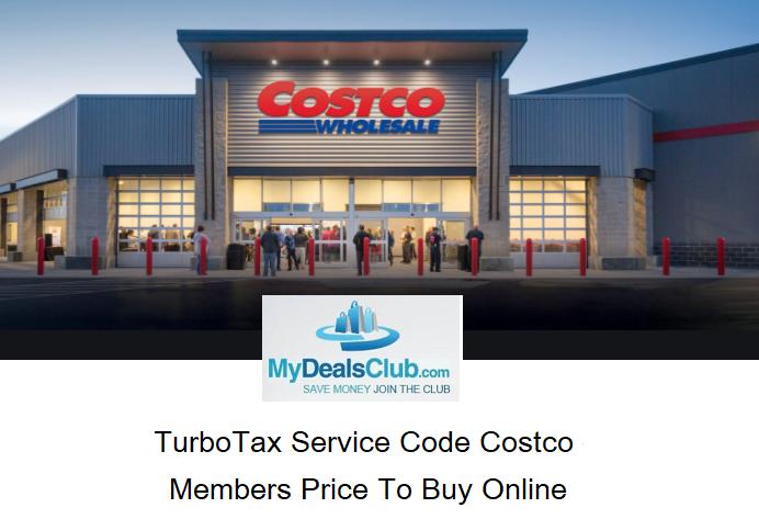 TurboTax Service Code Costco MydealsClub